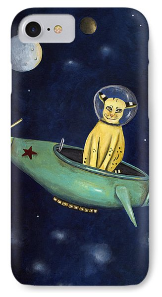 Space Bob Phone Case by Leah Saulnier The Painting Maniac