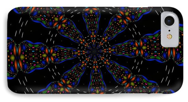 Space Flower IPhone Case by Alec Drake