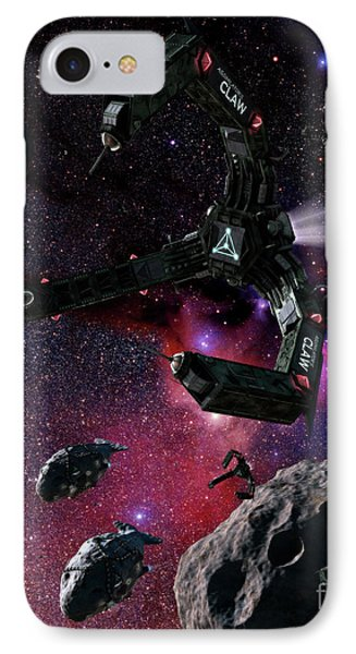 Space Scene Inspired By The Novels Phone Case by Rhys Taylor