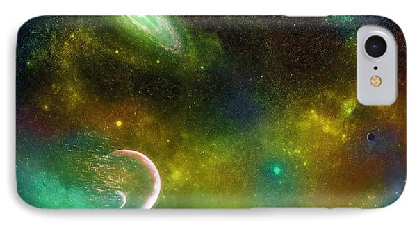 Space001 Phone Case by Svetlana Sewell