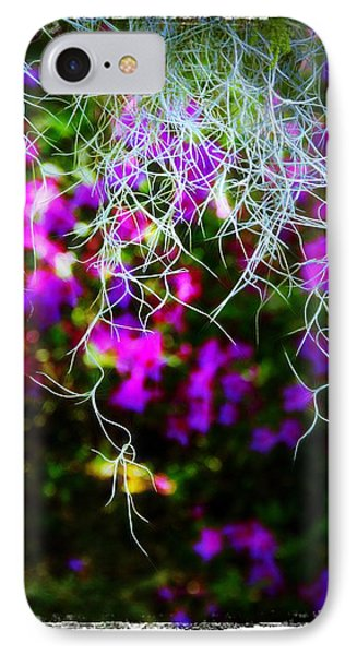 Spanish Moss And Azaleas IPhone Case by Judi Bagwell
