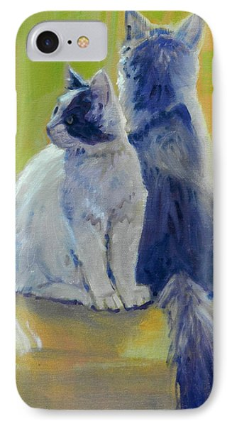 IPhone Case featuring the painting Spanky And Booboo by Donald Maier