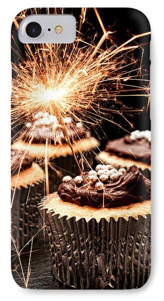 Sparkler Cupcakes IPhone Case