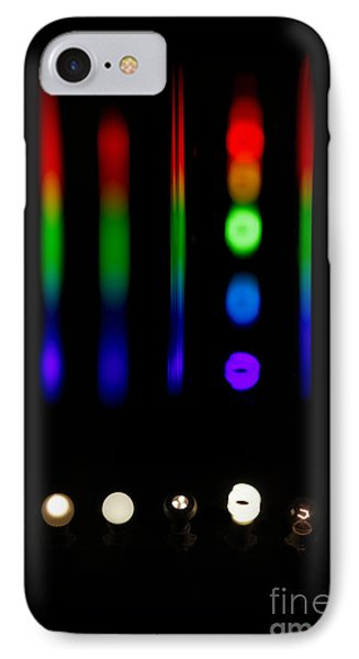 Spectra Of Energy Efficient Lights IPhone Case by Ted Kinsman