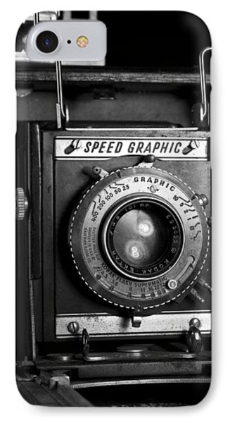 Speed Graphic IPhone Case by Michael Friedman