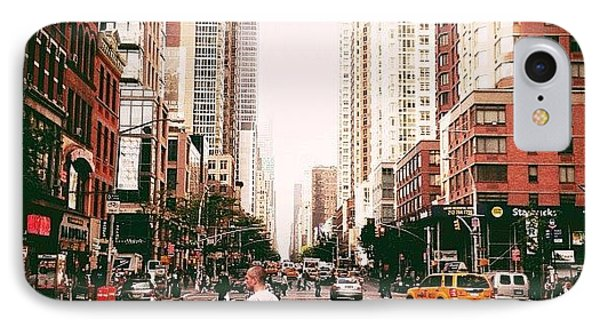 Speed Of Life - New York City Street IPhone Case