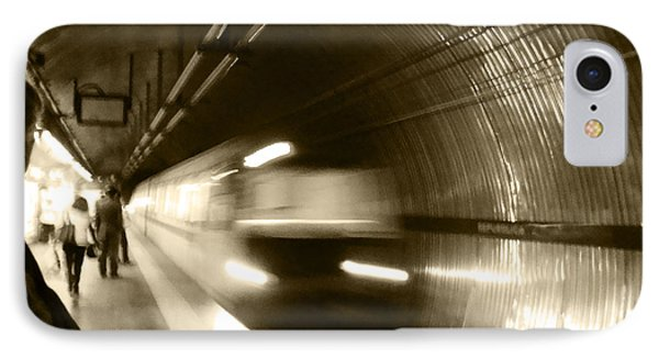 IPhone Case featuring the photograph Speeding Train by Marta Cavazos-Hernandez