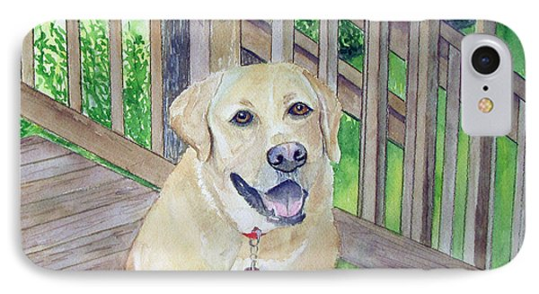 Spencer On Porch IPhone Case by Carol Flagg