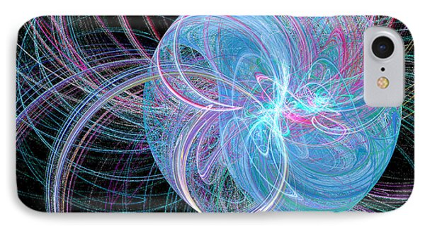IPhone Case featuring the digital art Spherical Symphony by Kim Sy Ok
