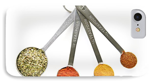 Spices In Measuring Spoons Phone Case by Elena Elisseeva