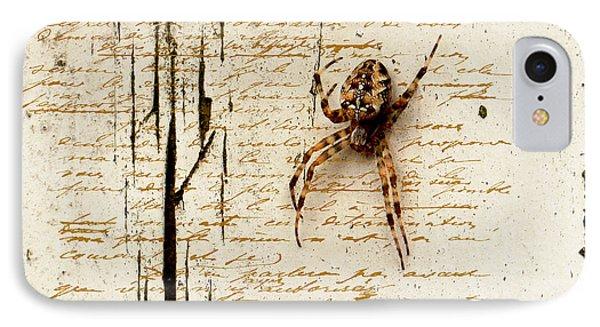 Spider Letter Phone Case by Yvon van der Wijk