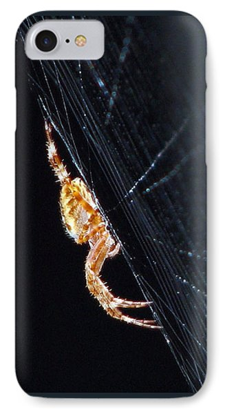 IPhone Case featuring the photograph Spider Solitaire by Chris Anderson