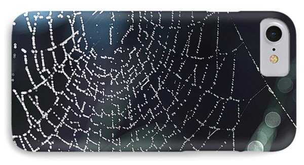 IPhone Case featuring the photograph Spiderweb Blues by Artist and Photographer Laura Wrede
