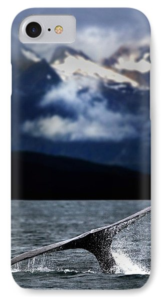 Splash From Tail Of Humpback Whale Phone Case by Richard Wear