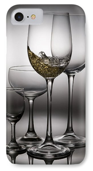 Splashing Wine In Wine Glasses IPhone Case by Setsiri Silapasuwanchai