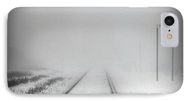 Spooky Train Tracks Phone Case by Ms Judi