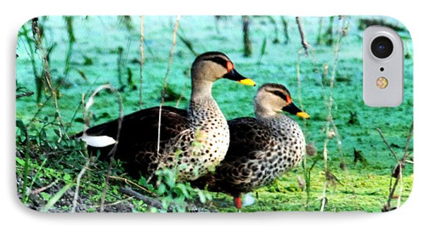 IPhone Case featuring the photograph Spot Bill Ducks by Pravine Chester