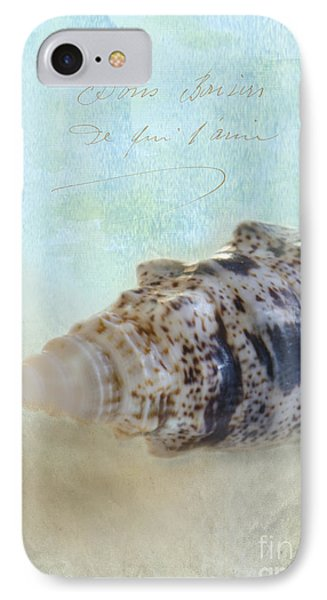 Spotted Auger Seashell Phone Case by Betty LaRue