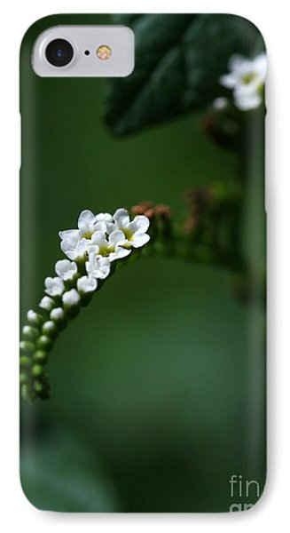 Spray Of White Flowers Phone Case by Sabrina L Ryan