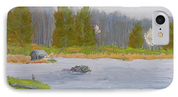 Spring Blossoms Beaver Pond Phone Case by Robert P Hedden