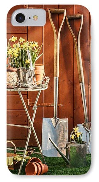 Spring Gardening IPhone Case by Amanda Elwell
