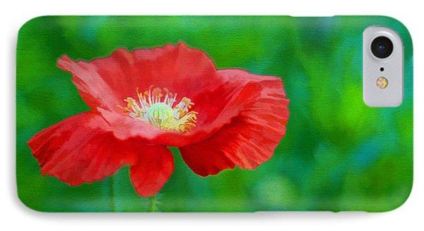Spring Poppy Phone Case by Darren Fisher