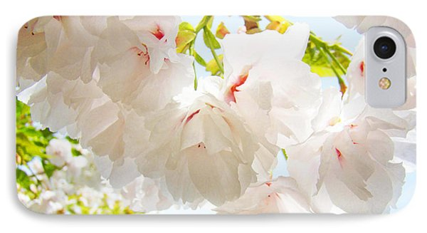 Spring White Pink Tree Flower Blossoms Phone Case by Baslee Troutman