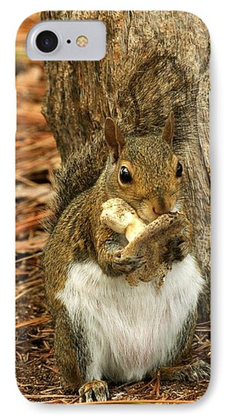 IPhone Case featuring the photograph Squirrel On Shrooms by Rick Frost