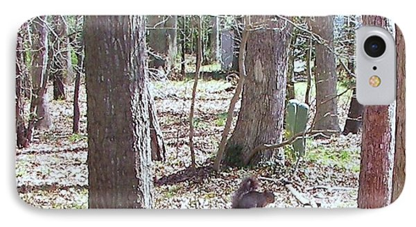 IPhone Case featuring the photograph Squirrel Waiting by Pamela Hyde Wilson