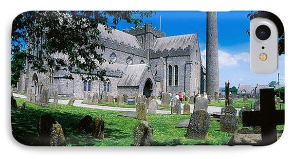 St Canices Cathedral &, Round Tower IPhone Case by The Irish Image Collection