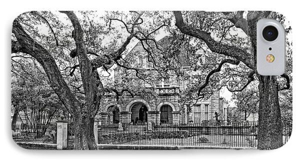 St. Charles Ave. Mansion Monochrome IPhone Case by Steve Harrington