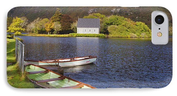 St. Finbarres Oratory And Rowing Boats Phone Case by Ken Welsh