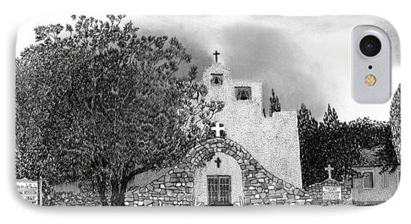 St Franncis De Paula Mission Phone Case by Jack Pumphrey