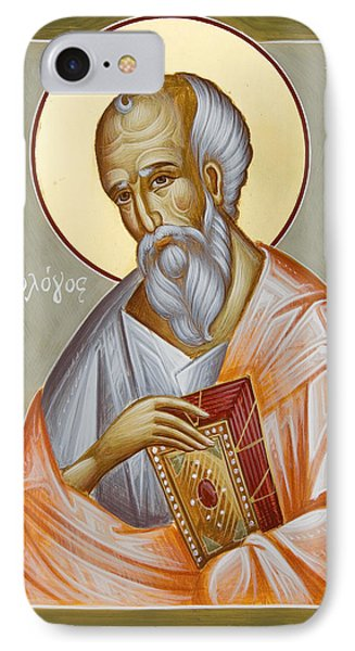 St John The Theologian IPhone Case by Julia Bridget Hayes