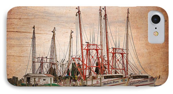 St John's Shrimping IPhone Case by Debra and Dave Vanderlaan