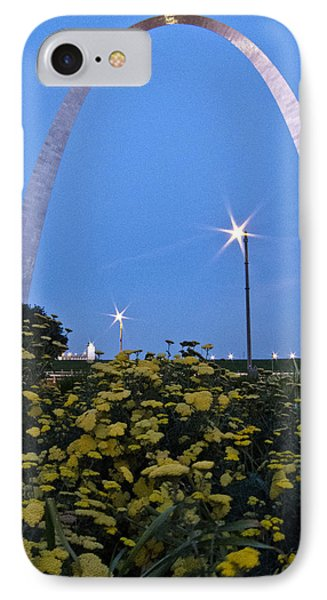 IPhone Case featuring the photograph St Louis Arch With Twinkles by Nancy De Flon