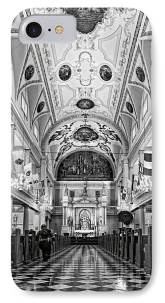 St. Louis Cathedral Monochrome Phone Case by Steve Harrington