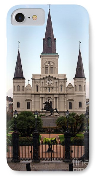 St Louis Cathedral On Jackson Square In The French Quarter New Orleans IPhone Case by Shawn O'Brien