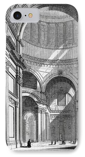 St. Paul's Cathedral, Historical Artwork Phone Case by Middle Temple Library
