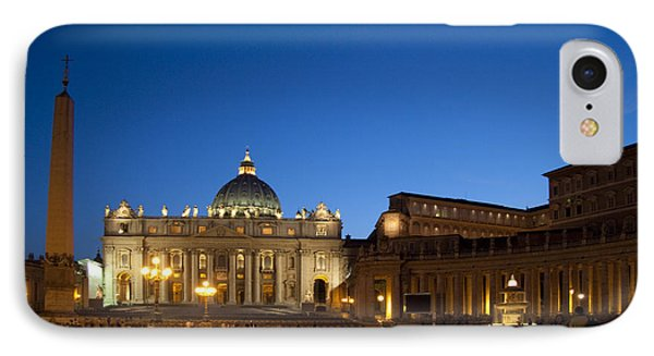 St. Peter's Basilica At Night IPhone Case by David Smith