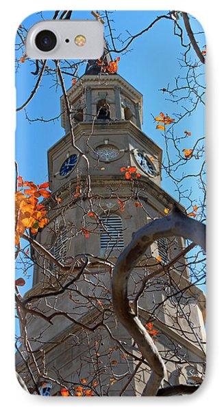 St. Philips Church Steeple - Charleston Sc Phone Case by Suzanne Gaff