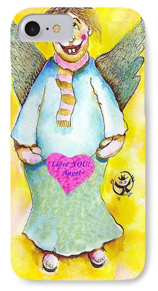 St. Valentine's Angel Phone Case by Ion vincent DAnu