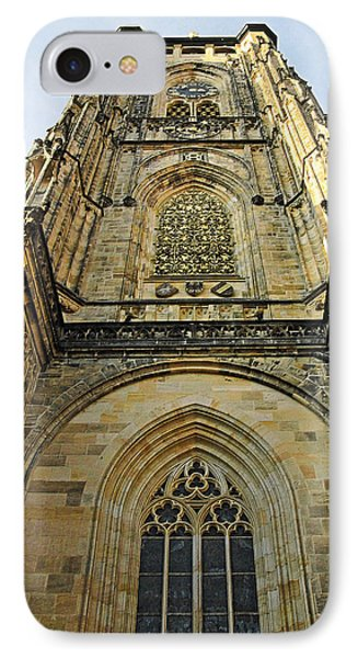 St Vitus Cathedral Prague - The Realms Of 'non-being' Phone Case by Christine Till