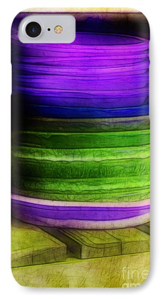 Stack Of Saucers Phone Case by Judi Bagwell