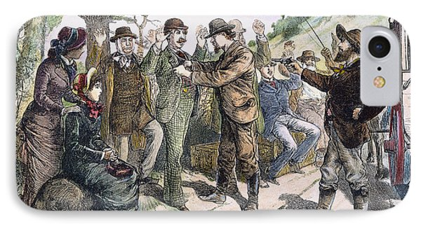 Stagecoach Robbery, 1880s Phone Case by Granger
