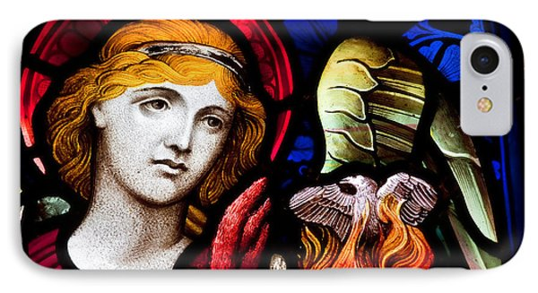 Stained Glass Angel IPhone Case by Verena Matthew