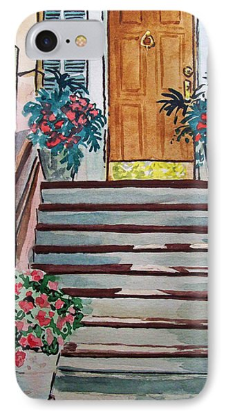 Stairs Sketchbook Project Down My Street Phone Case by Irina Sztukowski