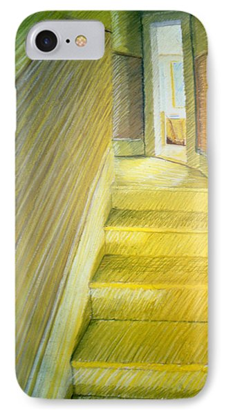 Stairwell In Malden Apartment 1978 Phone Case by Nancy Griswold