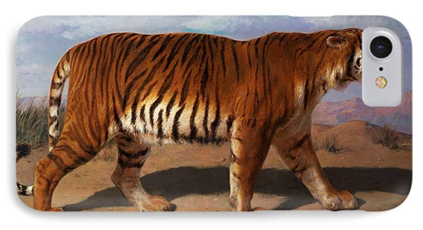 Stalking Tiger IPhone Case by Rosa Bonheur