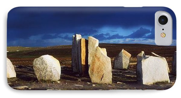 Standing Stones, Blacksod Point, Co Phone Case by The Irish Image Collection